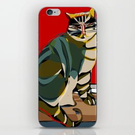 The cat and the sun iPhone Skin