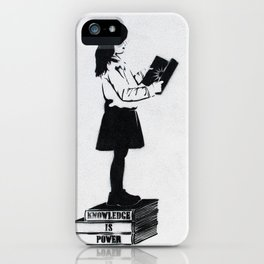 Knowledge is power iPhone Case