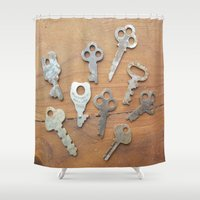key Shower Curtains featuring key by L Step