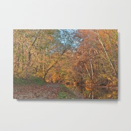Autumn Pennyfield Canal Metal Print