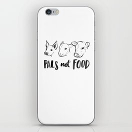 Pals Not Food Illustration by Laura Tubb iPhone Skin