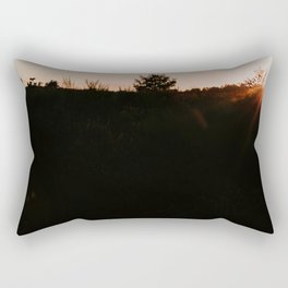Dutch sunset purple heather at the forest  | Colourful Travel Photography | Veluwe, Holland (The Netherlands) Rectangular Pillow