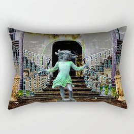 Ghost in a Madeira Mansion. Rectangular Pillow
