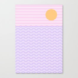 Coastline (Sunset Pink) Canvas Print