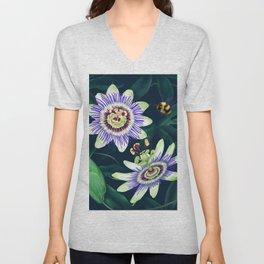 Passion Flower Vine Unisex V-Neck
