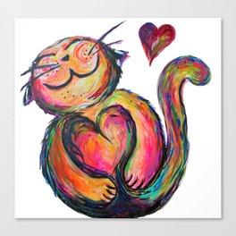 Love Chub Chubbycat Canvas Print