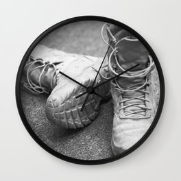 A Mile in My Boots Wall Clock