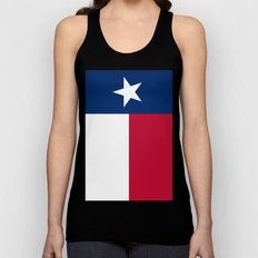 State flag of Texas, Vertical Banner Unisex Tank Top