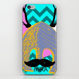 Moustache Antlers iPhone Skin