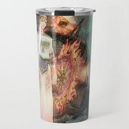 Warrior girl and yellow pig Travel Mug