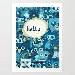 Hellowls Art Print
