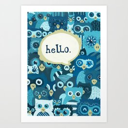 Hellowls Art Print