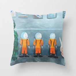 Incarceration Station Throw Pillow