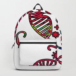 Pink Floral Erzulie Backpack