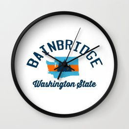 Bainbridge Island - Washington Sate. Wall Clock