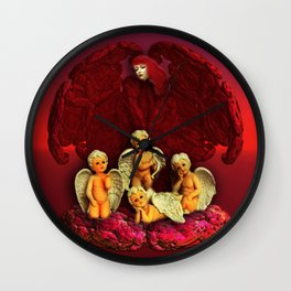 #Christmas Angels Wall Clock