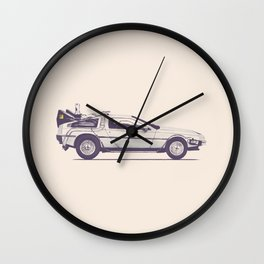 Famous Car #2 - Delorean Wall Clock