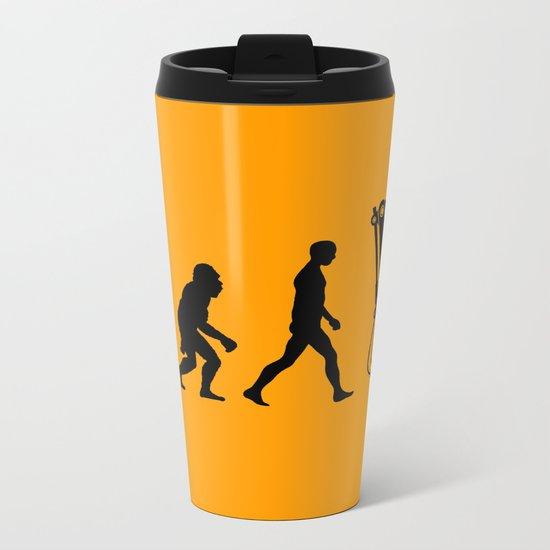 Replaced  |  Human Evolution Metal Travel Mug