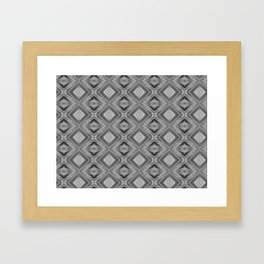 Shades of grey and black pattern A128A Framed Art Print