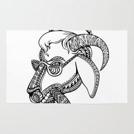 Goat Cigar Tribal Tattoo Style Rug