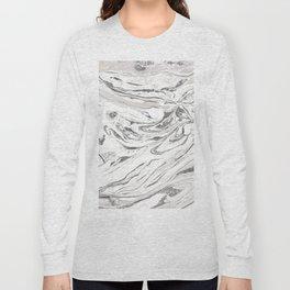 Grey marble Long Sleeve T-shirt
