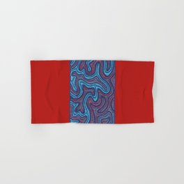 Stitches - Coral Hand & Bath Towel