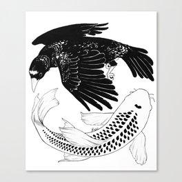 A Bird May Love a Fish Canvas Print