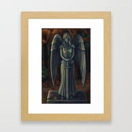 Justice Sculpture Framed Art Print