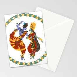 Shiva Parvati Pixel Art Stationery Cards