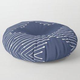 Geo / Navy Floor Pillow