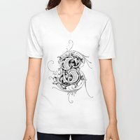 monogram V-neck T-shirts featuring monogram s by Art Lahr