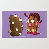 potato Area & Throw Rugs featuring Potato Potaato by Artistic Dyslexia