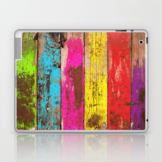 Vintage Colored Wood Laptop & iPad Skin