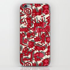 chinese animals red iPhone & iPod Skin