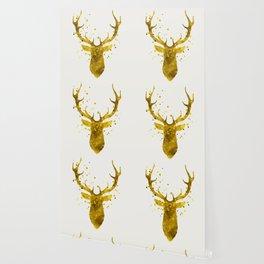 Gold Deer Wallpaper