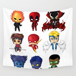 Chibi Heroes Set 2 Wall Tapestry