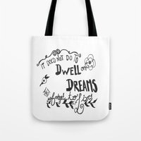 dumbledore Tote Bags featuring Modern Harry Potter/Dumbledore Quote by Salty Books