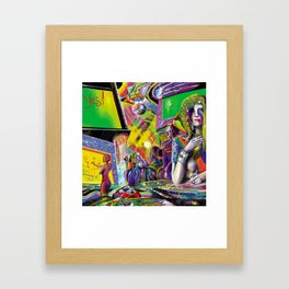 Cybercafé (Closeup) Framed Art Print