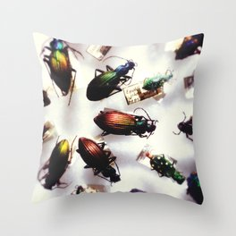 Coleoptra Throw Pillow