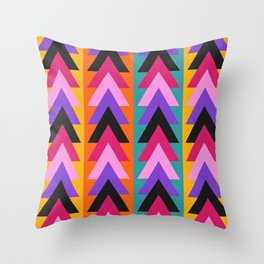Multicolored arrows and bright stripes Throw Pillow