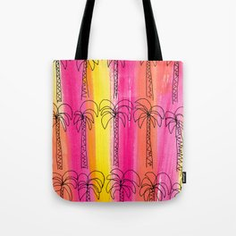 Live For the Moment (palm trees pattern summer beach tropical) Tote Bag