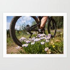 Flower cycle Art Print