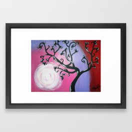 Curly Tree with Leaves Framed Art Print