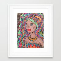 african Framed Art Prints featuring African by havana