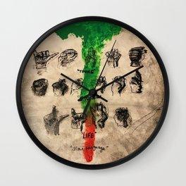 thug,stoner,young,life,slime language,music,rap,album art,fan art,cool,wall art,poster,painting Wall Clock