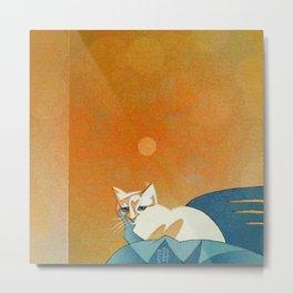 Winged Vi in Orange Room Metal Print