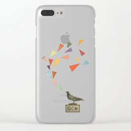 Pigeon Radio Clear iPhone Case