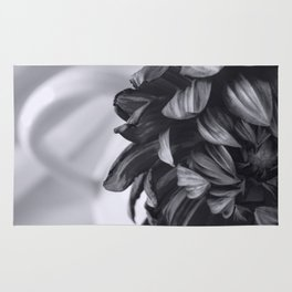 Whispered Beauty - Black and White Art Rug