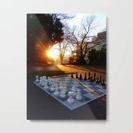 Chess at Dawn Metal Print