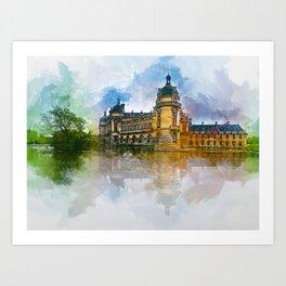 Château de Chantilly Art Print